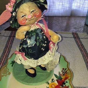 Vintage Annalee miss Easter bunny rabbit